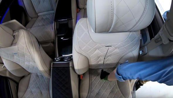 Mercedes koltuğundan bakın neler çıktı