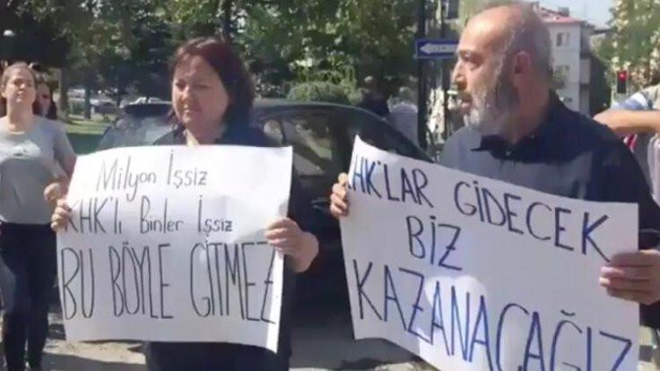 AK Parti önünde beşinci günde beşinci gözaltı