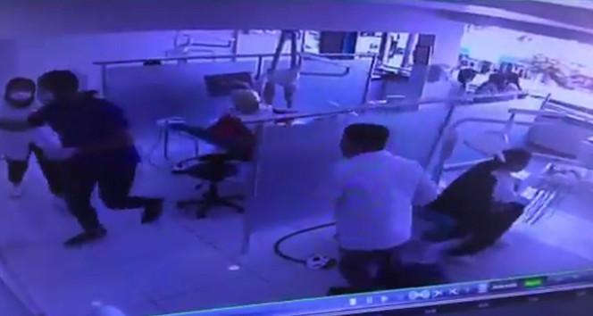 Dişçide deprem paniği kamerada