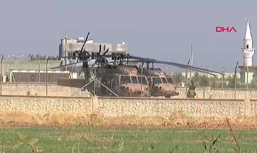 Fırat'ın doğusunda ABD ile 7. ortak helikopter uçuşu yapıldı