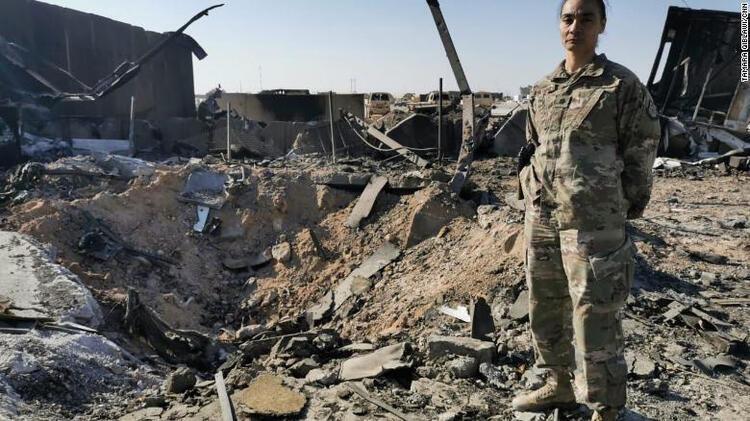 İran'ın vurduğu ABD üssünün içinden ilk görüntüler