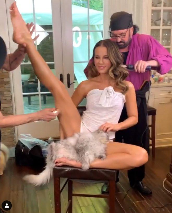 Kate Beckinsale, paylaştığı videoyla Instagram'ı salladı