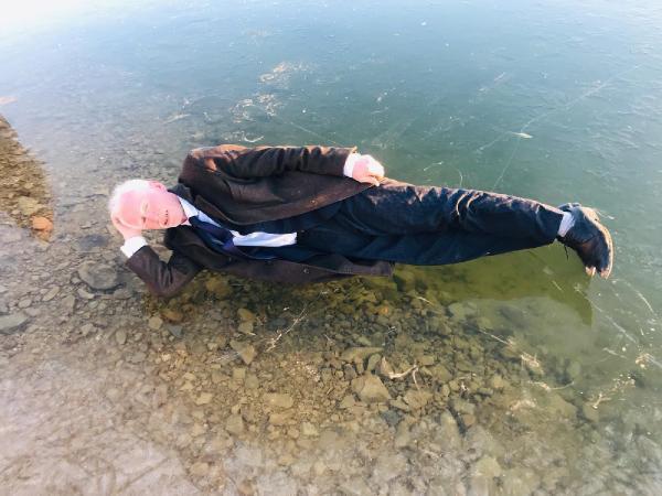 Gökçedere Gölü buz tuttu