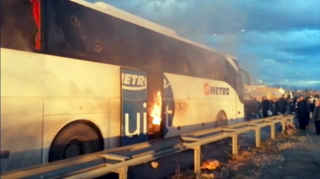 Antalya'da yolcu otobüsünde dehşet anları !