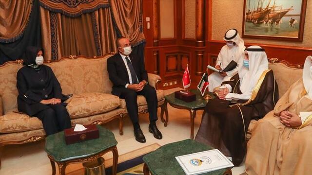 Dışişleri Bakanı Çavuşoğlu'ndan Kuveyt'e taziye ziyareti