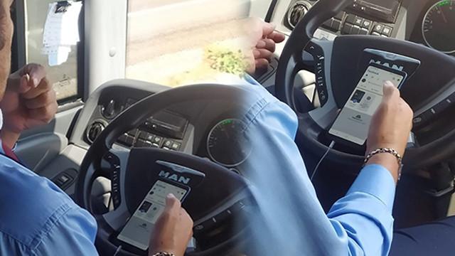 Şehirlerarası otobüs şoförünün görüntüleri sosyal medyayı salladı