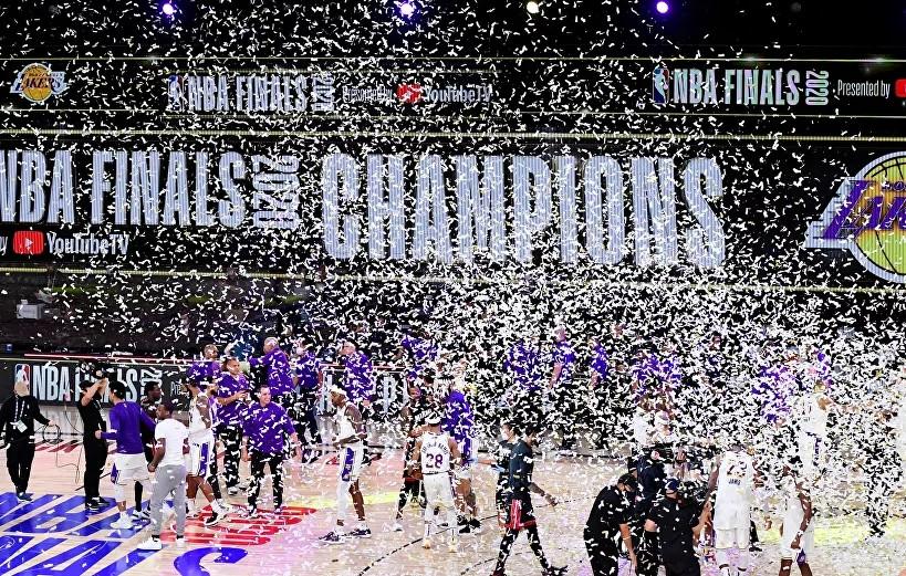 NBA'de şampiyon Los Angeles Lakers