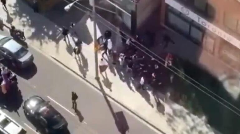 Ermenilerden eylem yapan Türklere linç girişimi! Çirkin saldırı kamerada