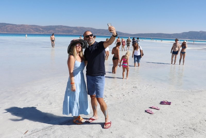 Salda Gölü son ziyaretçilerini ağırlıyor - Resim: 1