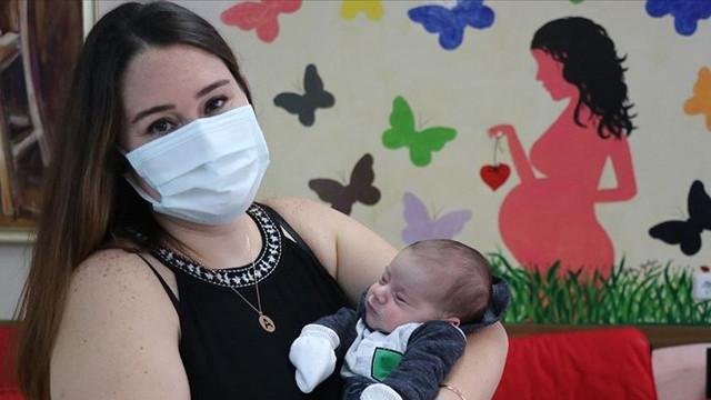 Doğuma 4 gün kala koronaya yakalanmıştı! Bebeğine kavuştu
