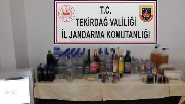 Tekirdağ'da 77 litre alkol ele geçirildi