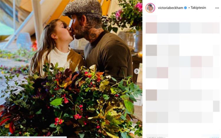 Beckham'ın kızını dudağından öpmesi sosyal medyayı karıştırdı