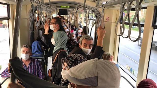 Eskişehir'de koronavirüs vakaları artarken maskeler çenede!