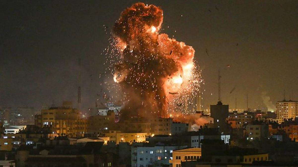 İsrail yine Gazze'yi vurdu!