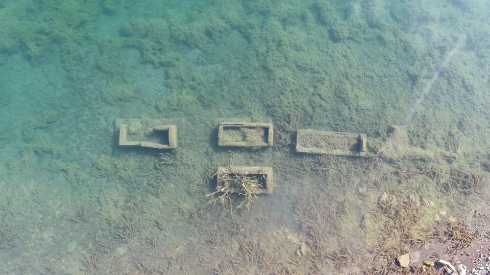 Sular çekilince kemikler ortaya çıktı