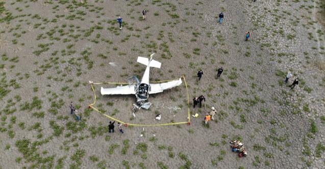 Büyükçekmece'de düşen uçağın pilotu yaşamını yitirdi