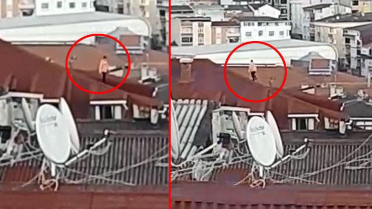 Yer: İstanbul... Çatıda şoke eden görüntü!