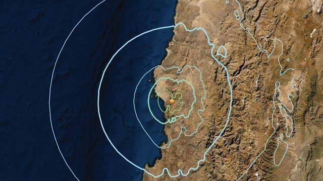 Şili'de 5.8 büyüklüğünde deprem!