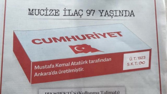 İstanbul Eczacı Odası'nın 29 Ekim Cumhuriyet Bayramı mesajı dikkat çekti