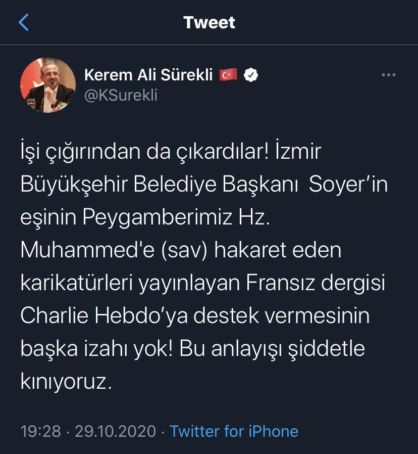 AK Parti'den CHP'li Tunç Soyer'in eşi Neptün Soyer'e tepki