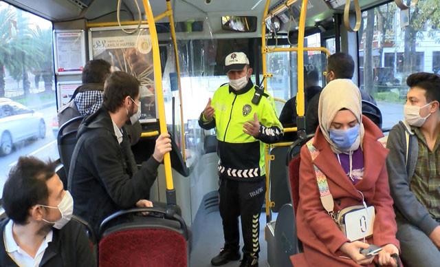 İstanbul'da toplu taşıma araçlarına koronavirüs denetimi