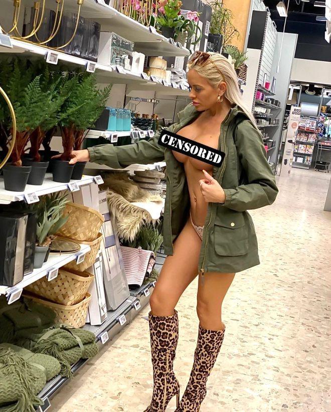Üstsüz şekilde alışveriş yapan model pes dedirtti!
