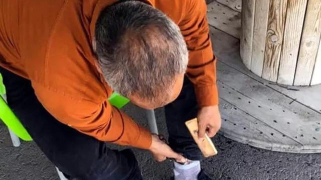 Kilis'te bir şahsın ayaklarında 3 kilogram altın tespit edildi