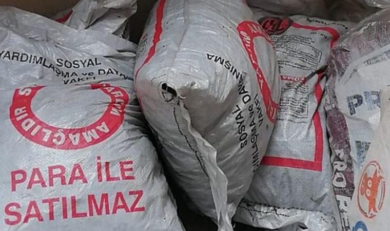 Yardım için dağıtılan kömürler satılığa çıktı!