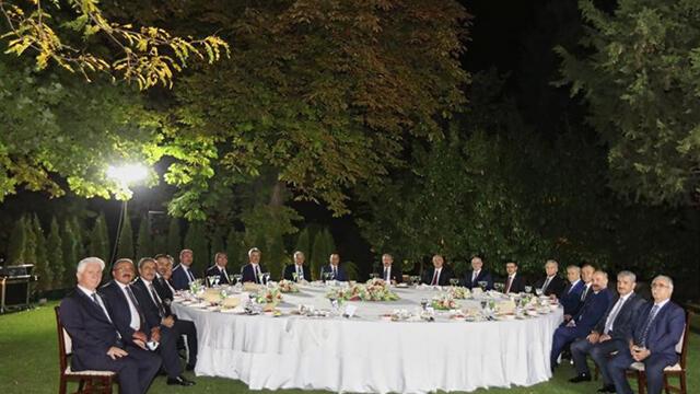 TBMM Başkanı Şentop, eski başkanlar ile bir araya geldi