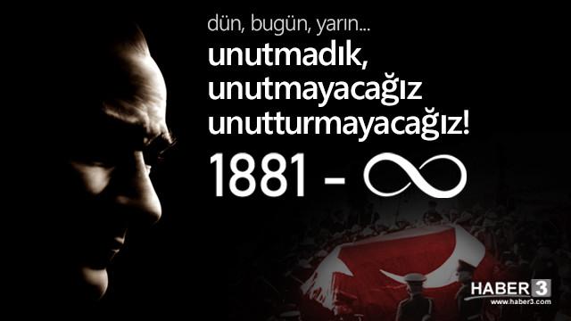 Mustafa Kemal Atatürk'ün ebediyete intikalinin 82. yılı