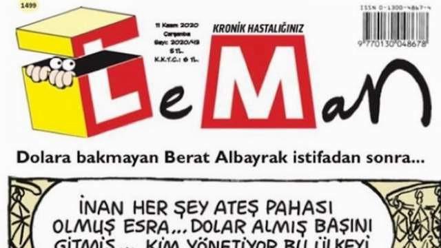 Leman'dan çok konuşulacak Berat Albayrak kapağı