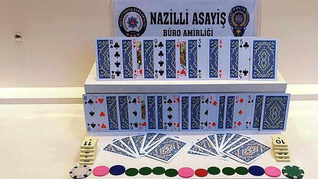 Aydın'da kumar baskını: 2 kişi suçüstü yakalandı