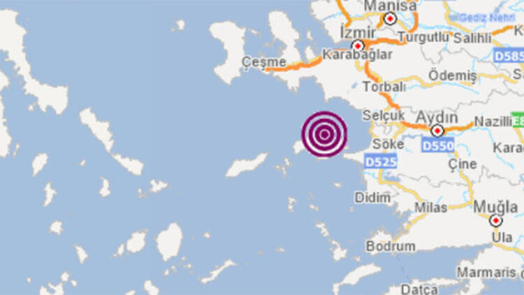 Ege Denizi'nde bir deprem daha!