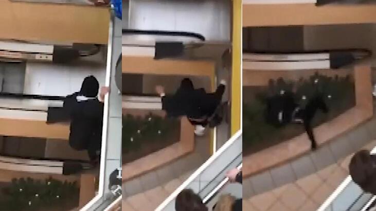AVM'de hırsızlık yapan genç, 3. kattan atladı