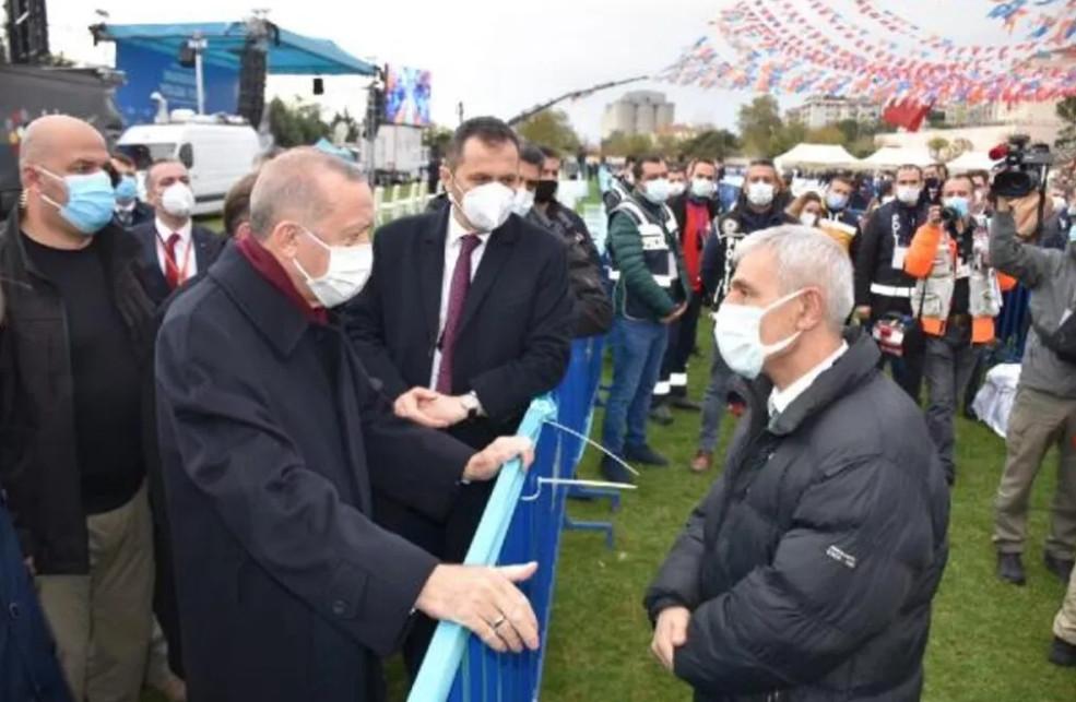 Erdoğan, çocukluk arkadaşıyla karşılaşınca...