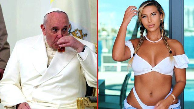 Papa Francis, ünlü modelin fotoğrafına ''like'' attı