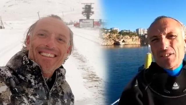 Antalya'da ilginç görüntü! bir gün arayla kar ve deniz keyfi