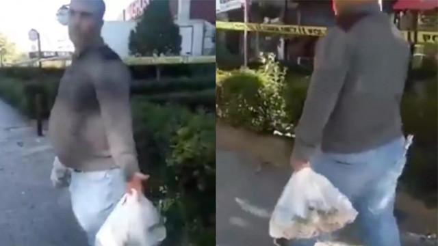 Depremzedelere gönderilen yardımları satarken yakalandı