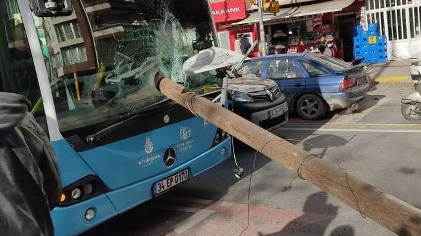 Otobüsün camından direk girdi
