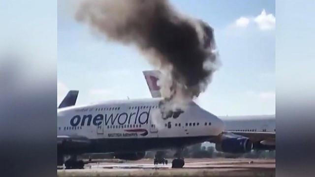 İspanya'da panik anları! Yolcu uçağı alev alev yanmaya başladı