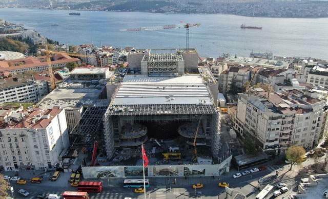 Yeni AKM inşaatında son durum böyle görüntülendi