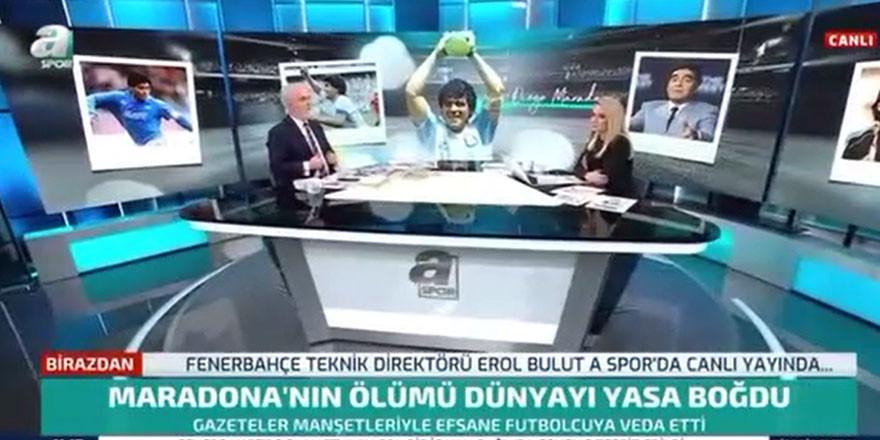 A Spor canlı yayında şoke eden el hareketi