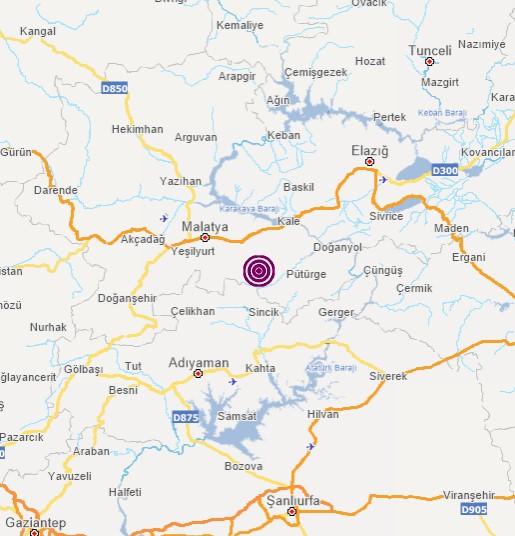 Malatya'da 4.7 büyüklüğünde deprem! İşte ilk görüntüler