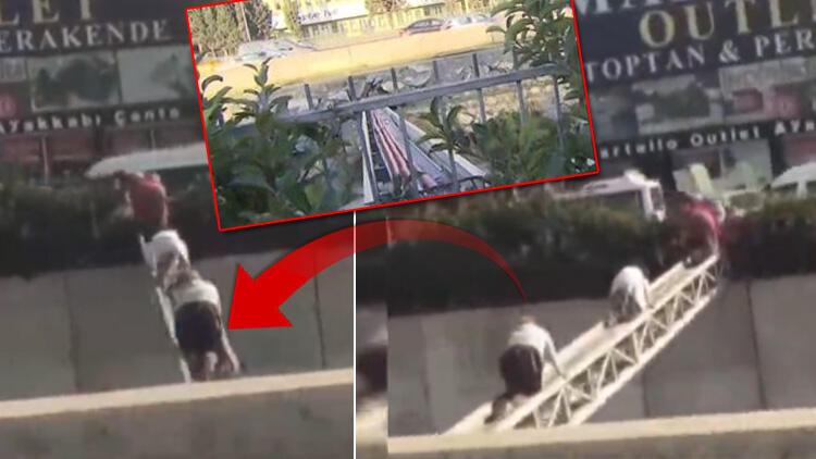 Ölüme meydan okuyorlar! İstanbul'da inanılmaz görüntüler
