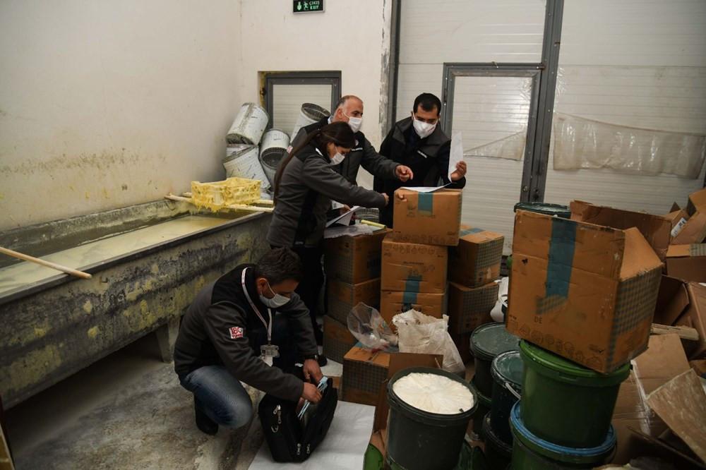 Kaçak peynir imalathanesinde iğrenç görüntüler