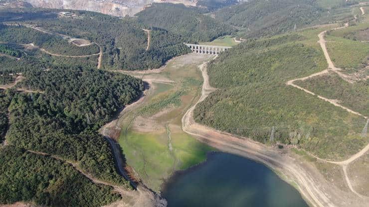 İstanbul'un barajları 10 yılın en düşük seviyesinde