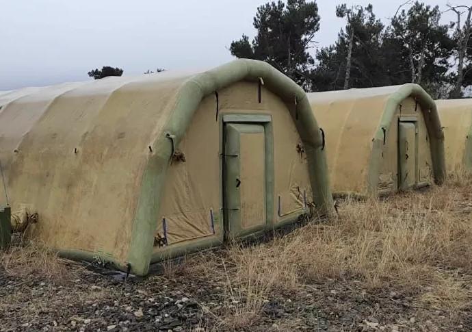Rusya, Dağlık Karabağ'da sahra hastanesi kurdu