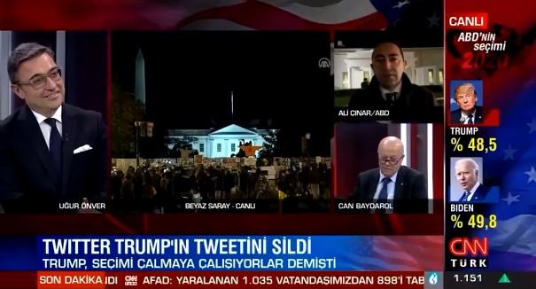 CNN Türk ekranlarında dilinin ucuna geldi ama söyleyemedi