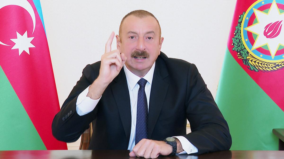 Aliyev ateşkes için tek bir şart sundu
