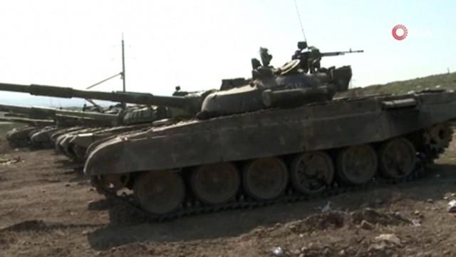 Ermenistan ordusu tank ve askeri araçları bırakıp kaçtı